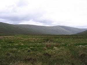English: Wide, boggy glen Not the most interes...