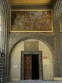 Wien-Fünfhaus - Vogelweidhof - Stiege III mit Wandbild Wohnbau - von Rudolf Jettmar.jpg