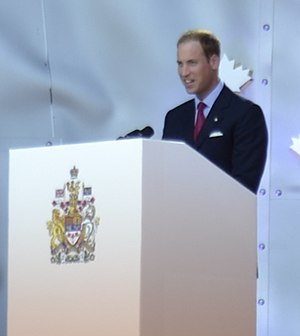 2011 in Canada - The Duke of Cambridge speaks at Canada Day festivities in Ottawa
