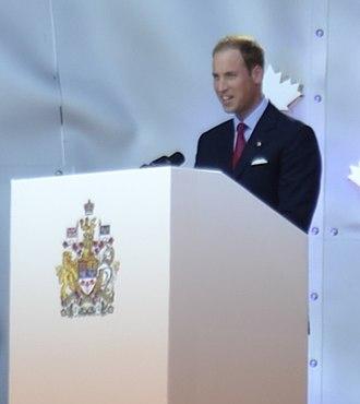 2011 in Canada - The Duke of Cambridge speaks at Canada Day festivities in Ottawa