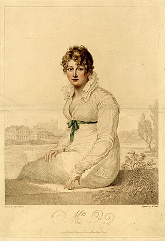 "Pride and Prejudice - In a letter to Cassandra dated May 1813, Jane Austen describes a picture she saw at a gallery which was a good likeness of ""Mrs. Bingley"" – Jane Bennet. Deirdre Le Faye in The World of Her Novels suggests that ""Portrait of Mrs. Q-"" is the picture Austen was referring to. (pp. 201–203)"