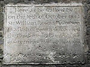 English: William Rowan Hamilton Plaque Plaque ...