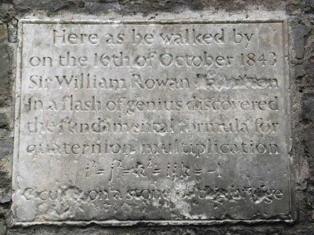 William Rowan Hamilton Plaque - geograph.org.uk - 347941