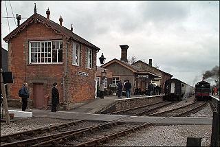 Williton railway station train station in Williton, Somerset, UK
