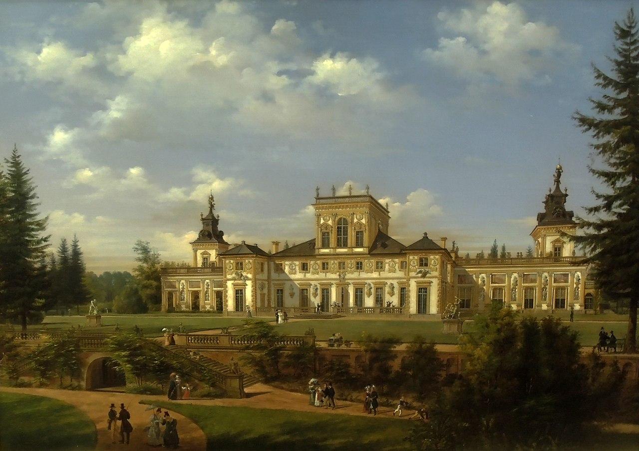 Wincenty Kasprzycki - Widok pałacu w Wilanowie.jpg