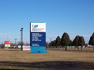 Wittman Regional Airport - Image: Wittman Regional Airport Sign
