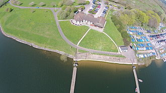 Chew Valley Lake - Woodford Lodge and part of the sailing club