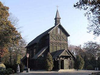 Bródno Cemetery - Wooden church of Saint Vincent de Paul