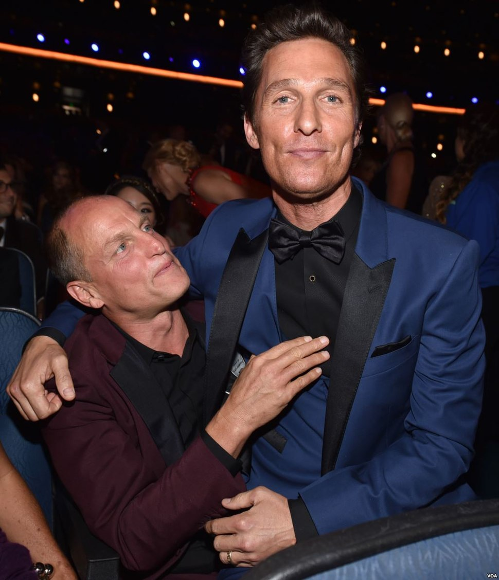 Woody Harrelson and Matthew McConaughey at the 66th Primetime Emmy Awards