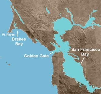 New Albion - Drakes Bay, northwest of San Francisco.