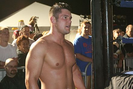 Edwards in 2008 Wrestler Eddie Edwards in August 2008.jpg