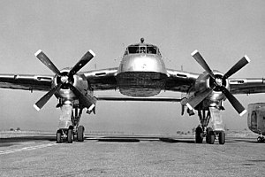 Fairchild XC-120 Packplane - The XC-120 on the ground