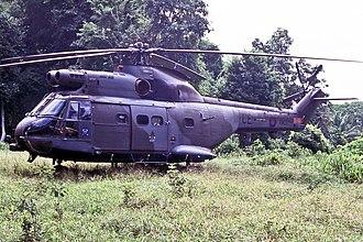No. 1563 Flight RAF - Image: XW202, (CE), Westland Puma HC.1 (1116), RAF, 1563 Flight, Belize Jungle, 14 08 1991 (24498231108)