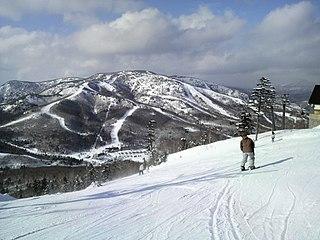 Mount Yakebitai mountain in Nagano Prefecture, Japan