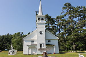 First Baptist Church (East Lamoine, Maine) - Image: Ye Old Meeting House, Lamoine, ME IMG 2254