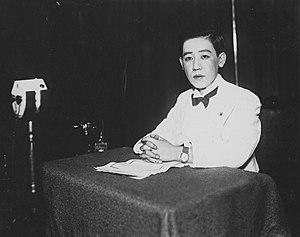 Yoshiko Kawashima - Image: Yoshiko Kawashima in recording studio 1933