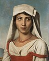 Young Neapolitan with a white kerchief and coral necklace - Leopold Robert.jpg