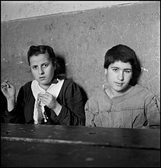 Young prostitutes in the Albergo dei Poveri reformatory, Naples 1948.jpg