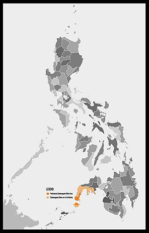 Zamboangueño people - Geographic Location of Predominantly Zamboangueño Ethnic