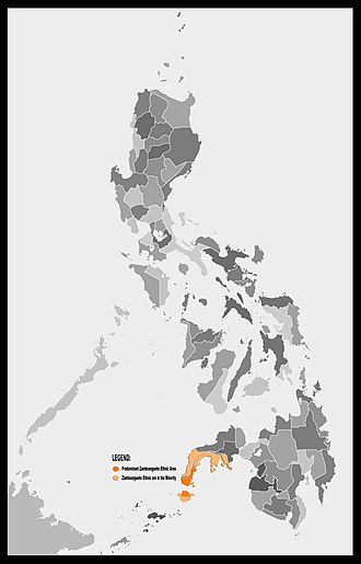 Zamboangueño people - Geographic extent of Zamboangueño people
