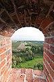 Zamek w Czzersku widok z wieży wschodniej.jpg