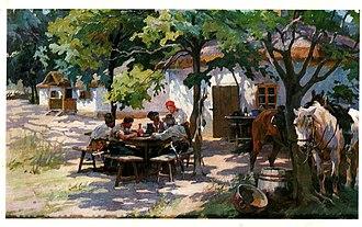 Nikolay Samokish - Image: Zaporozhians Korchma