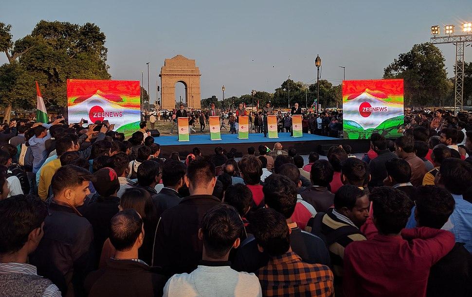 Zee News live debate, Rajpath, India Gate, New Delhi
