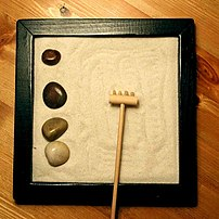 Picture of a Zen garden. Measures approximatel...