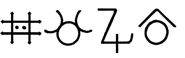 Zinc-alchemy symbols