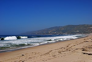 Zuma Beach - Zuma Beach, looking northwest, near the county park