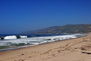 Zuma Beach - Zuma Beach, looking northwest, near the county park
