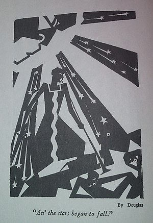 "Harlem Renaissance - ""An' the stars began to fall."" by Aaron Douglas"