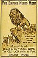 """""""The Empire Needs Men!"""" Recruitment poster for World War I (14842191503).jpg"""