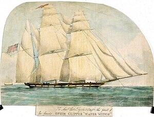 "Clipper - ""Opium clipper"" Water Witch, a British ship built in 1831"