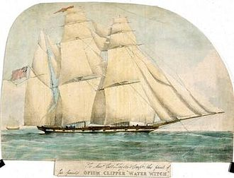 "Clipper - ""Opium clipper"" Water Witch, a British ship built in 1831"
