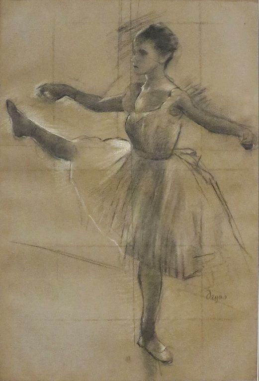 File:'Dancer' by Edgar Degas, charcoal, Norton Simon ...