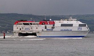 HSC Stena Voyager - Stena Voyager leaving Belfast