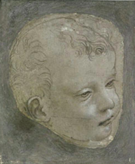 Cartoon for the head of the infant Saint John the Baptist