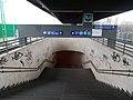Újpest train station, underpass, 2019 Angyalföld.jpg