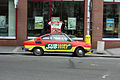 Škoda 110R Coupé used as an advertisement of the Subway restaurant.jpg
