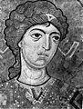 Архангел Михаил. Фрагмент мозаики в алтарной абсиде собора Гелатского монастыря. 1125-1130 гг..jpg