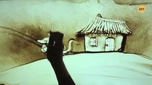 File:Кот и петух – Украинская сказка Сказки на песке -3.webm