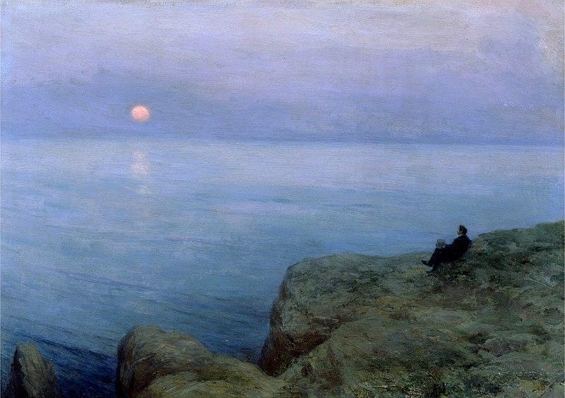 Файл: Леонид О.  Пастернак -. Александр Пушкин на берегу моря (1896) JPG