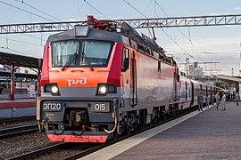 ЭП20-015, поезд Нижний Новгород - Москва, «Стриж», станция Нижний Новгород-Московский.jpg
