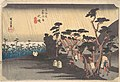 東海道五十三次之内 大磯 虎ケ雨-Tiger Rain at Ōiso Station MET DP122182.jpg