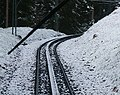 楚格峰登山鐵路齒軌 The Rack Rail of Bavarian Zugspitze Railway - panoramio.jpg