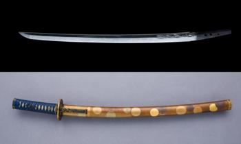 脇差, Blade and Mounting for a Short Sword (Wakizashi).png