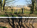 -2019-02-25 Name sign and platform, Honing railway station.JPG