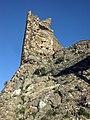 013 Castell de Montsoriu, restes de la torre sud-oest.jpg