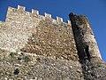 074 Castell de Montsoriu, mur sud-oest i torre sud.jpg